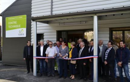 Inauguration du Centre technique de Grandrieu
