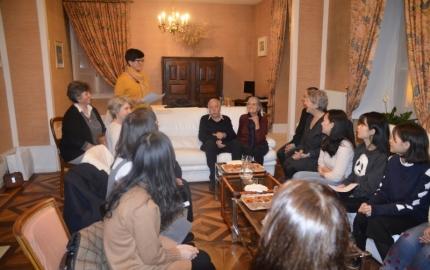 5 étudiantes chinoises reçues au Département