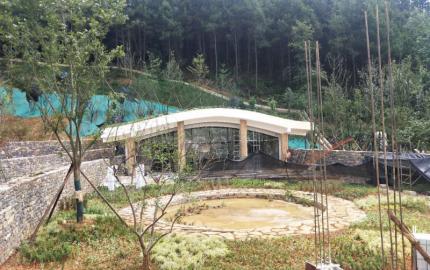 Le «  Pavillon de la Lozère  » prend forme au sein de l'éco-parc de Duyun