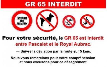 Le GR65 impraticable