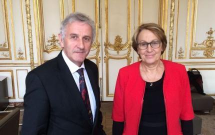 Avenir des Départements :  Jean-Paul POURQUIER rencontre la Ministre