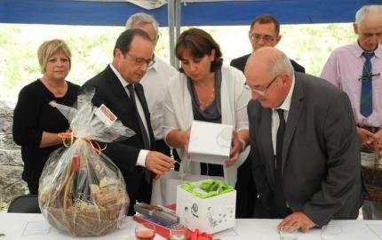 La Lozère reçoit le président de la République  François Hollande