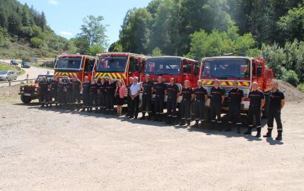 Les pompiers lozériens en renfort en Corse