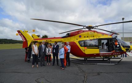 8ème campagne en Lozère pour le Dragon48, l'hélicoptère de la Sécurité Civile