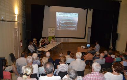 Sophie Pantel a présenté les travaux d'aménagement de la station thermale de Bagnols-les-Bains