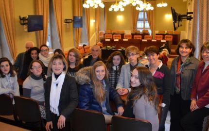 Visite des élèves du Lycée Terre Nouvelle au Département