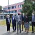 Sophie Pantel en visite au collège du Haut-Gévaudan pour la rentrée des classes