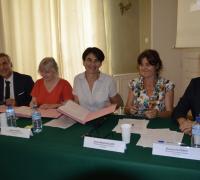 De gauche à droite : Laurent Roturier, Christine Wils-Morel, Sophie Pantel, Anne-Katell Allays et Florian Olivères