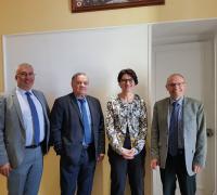 Sophie Pantel, Présidente du Département de la Lozère, a rencontré, le Maire d'Alès, Max Roustan lundi 6 mai
